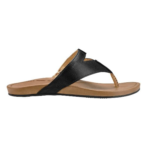Womens Olukai Lala Sandals Shoe - Black/Tan 11