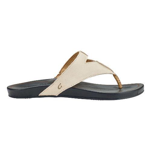 Womens Olukai Lala Sandals Shoe - Off White/Black 11