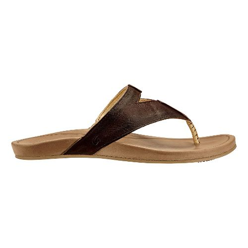 Womens Olukai Lala Sandals Shoe - Kona Coffee/Tan 5