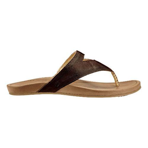 Womens Olukai Lala Sandals Shoe - Kona Coffee/Tan 7