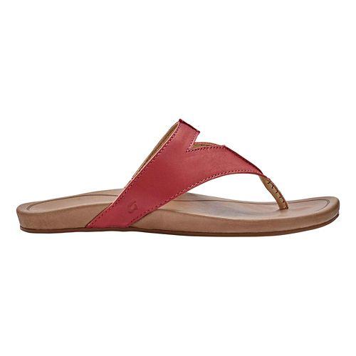 Womens OluKai Lala Sandals Shoe - Paprika/Tan 7