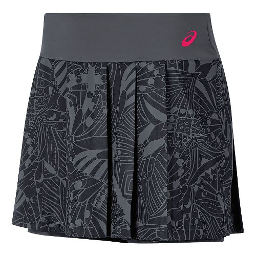 Womens ASICS Club GPX Skorts Fitness Skirts - Dark Grey M