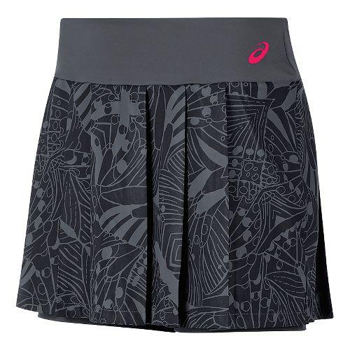 Womens ASICS Club GPX Skorts Fitness Skirts - Dark Grey XS