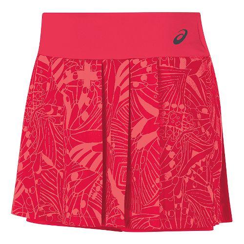 Womens ASICS Club GPX Skorts Fitness Skirts - Diva Pink XS
