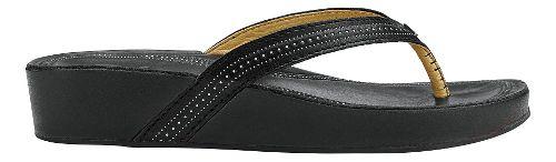 Womens Olukai Ola Sandals Shoe - Black/Black 9