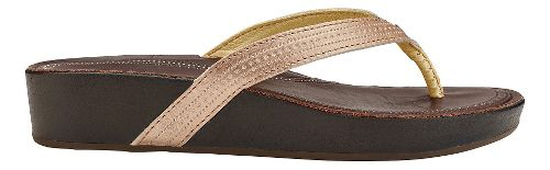Womens Olukai Ola Sandals Shoe - Copper/Dark Java 10