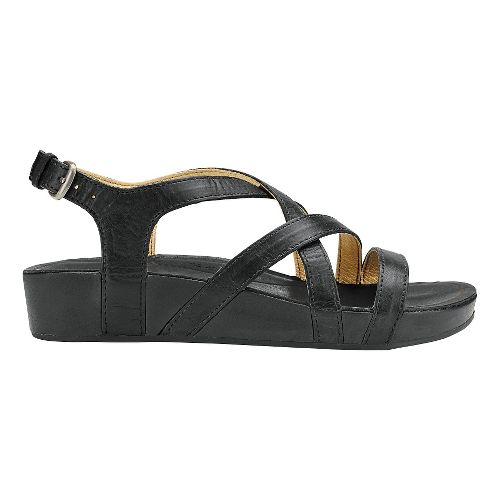 Womens Olukai Nana Sandals Shoe - Black/Black 7