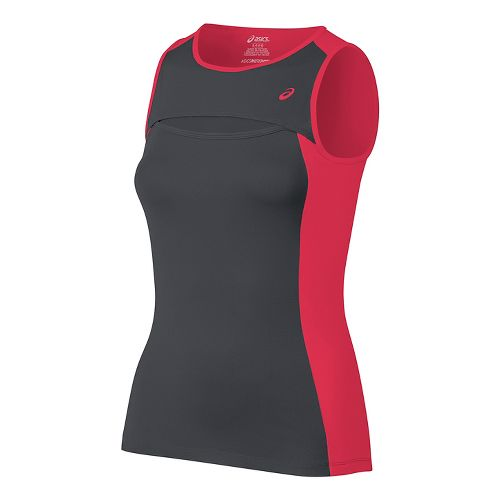 Womens ASICS Club Sleeveless & Tank Tops Technical Tops - Dark Grey S