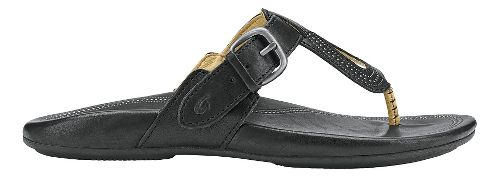 Womens Olukai Lanakila Sandals Shoe - Black/Black 7