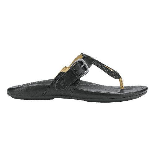 Womens Olukai Lanakila Sandals Shoe - Black/Black 7