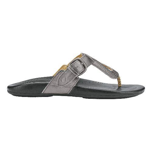 Womens Olukai Lanakila Sandals Shoe - Pewter/Black 5