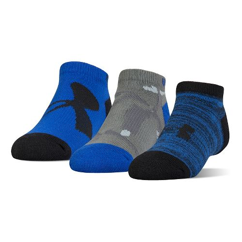 Under Armour Kids Next Statement No Show 3 pack Socks - Ultra Blue L