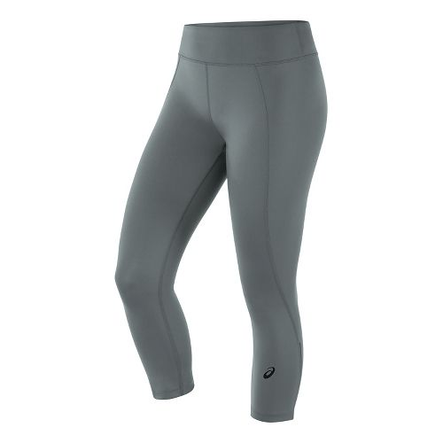 Womens ASICS Crop Tight Capris Pants - Shark S