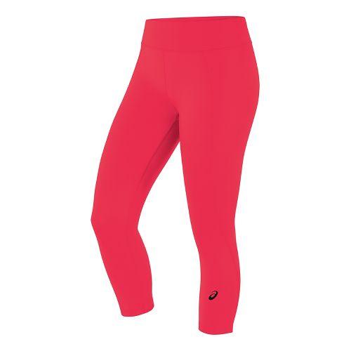 Womens ASICS Crop Tight Capris Pants - Diva Pink L