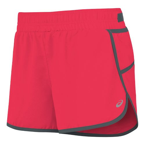 Womens ASICS Distance Lined Shorts - Diva Pink L