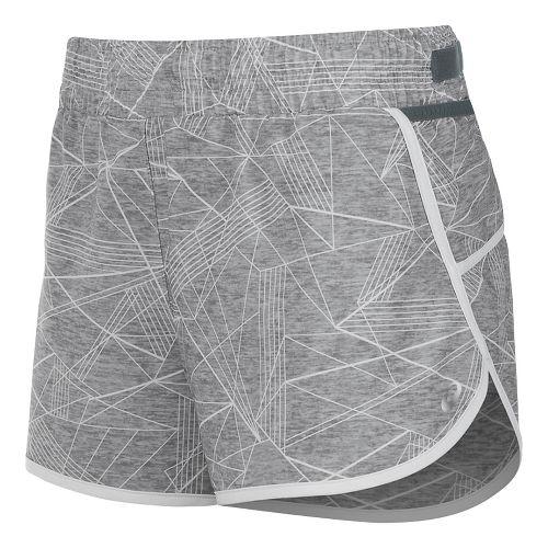 Womens ASICS Distance Lined Shorts - Grey Skyline Print S