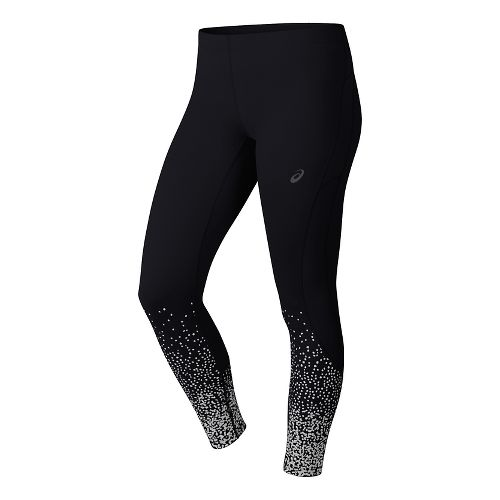 Womens ASICS Elite 7/8 Tights & Leggings Pants - Glitz Black L