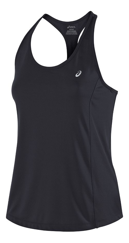 Womens ASICS Emma Racerback Sleeveless & Tank Tops Technical Tops - Black S