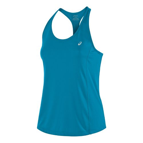 Womens ASICS Emma Racerback Sleeveless & Tank Tops Technical Tops - Diva Blue M