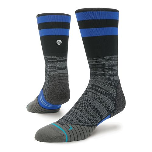 Mens Stance Run Uncommon Solids Crew Socks - Black M