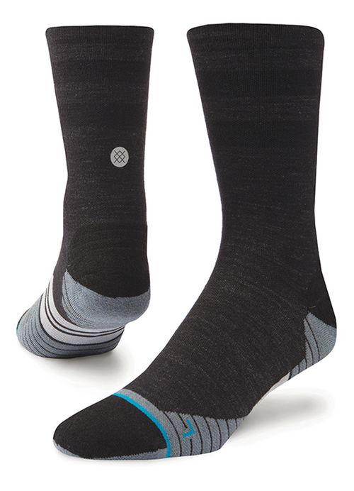 Mens Stance Run Uncommon Solids Crew Socks - Charcoal M