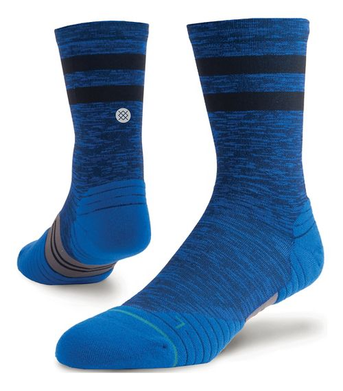 Mens Stance Run Uncommon Solids Crew Socks - Navy M