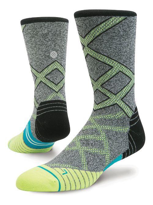 Mens Stance Run Endeavor Crew Socks - Volt L