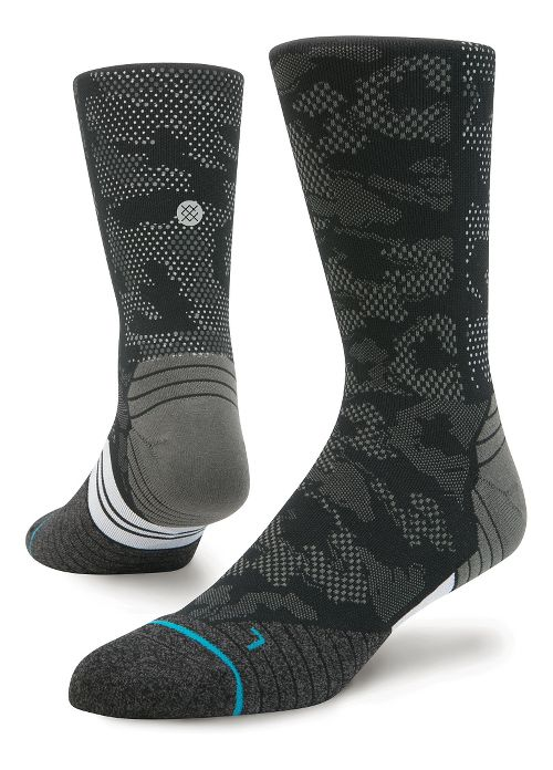 Mens Stance Run Hysteric Crew Socks - Black L