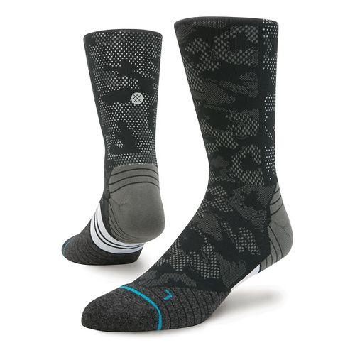 Mens Stance Run Hysteric Crew Socks - Black M