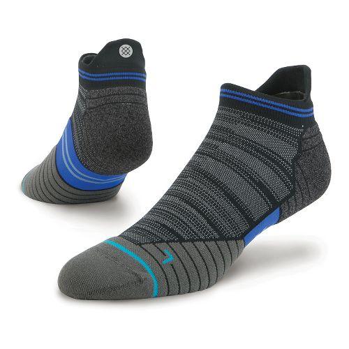 Mens Stance Run Uncommon Solids Tab Socks - Black L