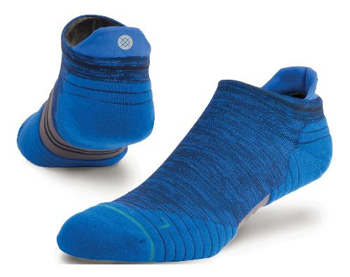 Mens Stance Run Uncommon Solids Tab Socks - Navy L