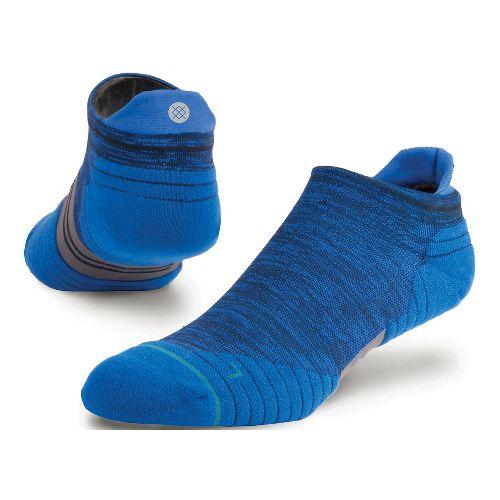 Mens Stance Run Uncommon Solids Tab Socks - Navy M