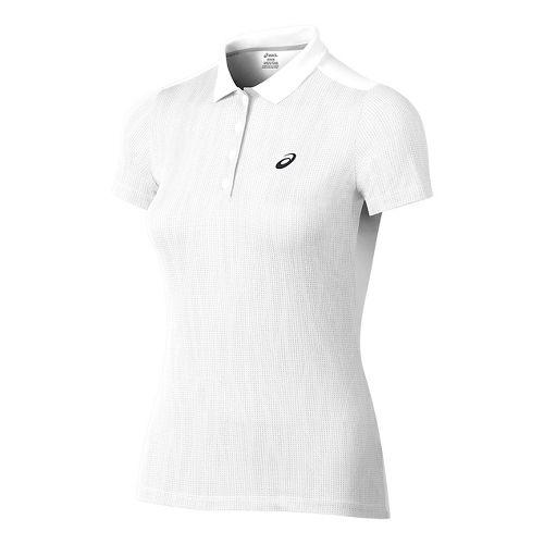Womens ASICS GPX Polo Short Sleeve Technical Tops - White M