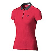 Womens ASICS GPX Polo Short Sleeve Technical Tops