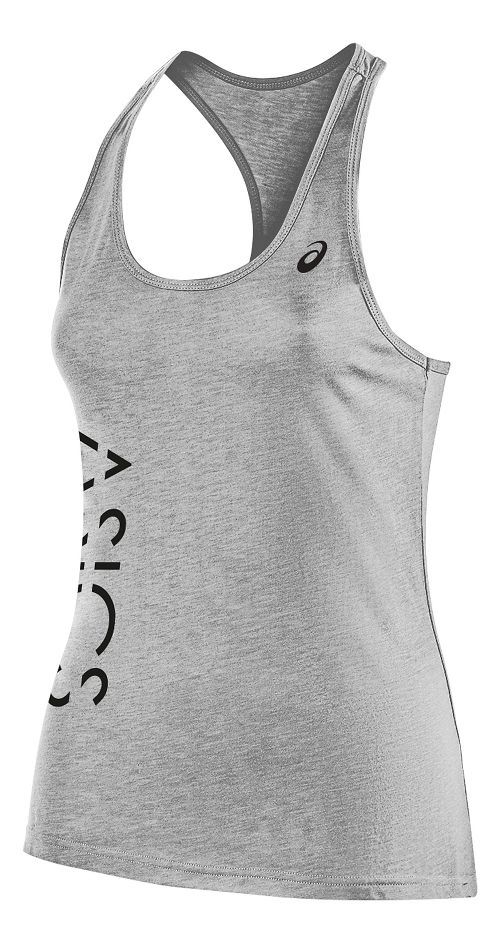 Womens ASICS Graphic Sleeveless & Tank Tops Technical Tops - Black S