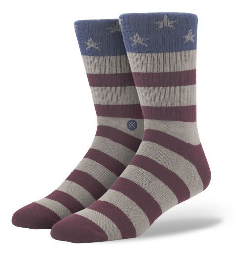 Mens Stance The Fourth Crew Socks - Red L