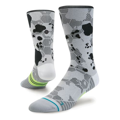 Mens Stance Run Honor Crew Lightweight Socks - White L