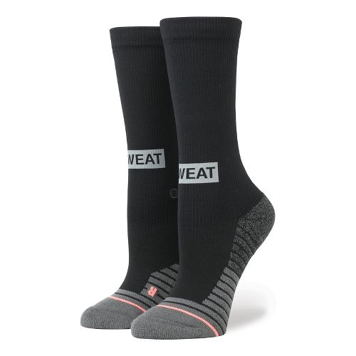 Womens Stance Fusion Reflective Box Crew Socks - Black S
