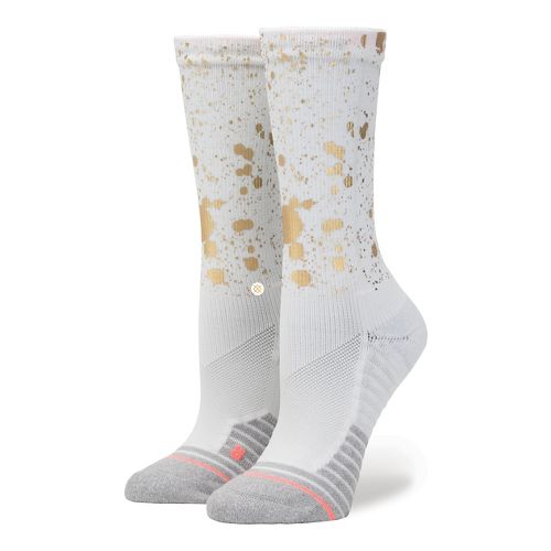 Womens Stance Fusion Endorphin Crew Socks - White M