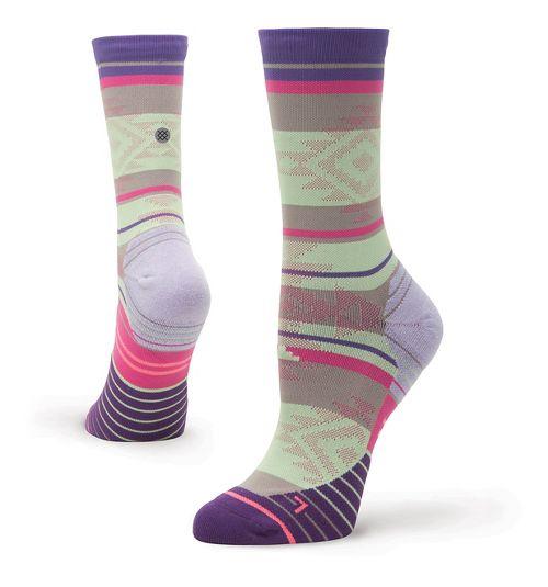 Womens Stance Run Motivation Crew Socks - Purple M