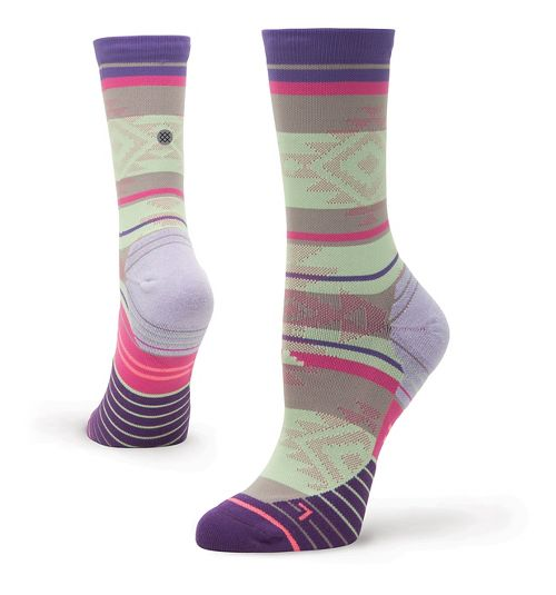 Womens Stance Run Motivation Crew Socks - Purple S