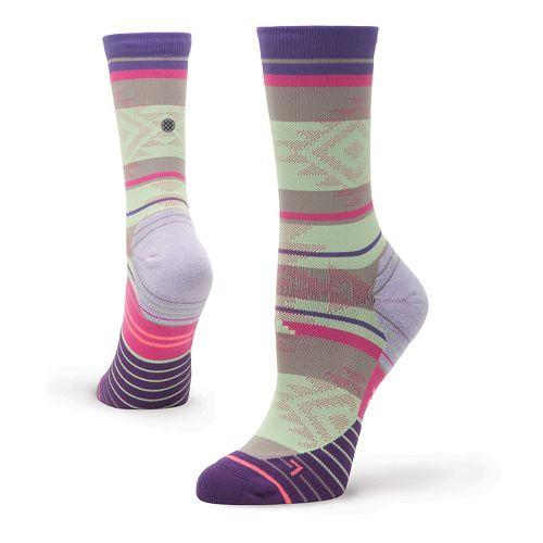 Womens Stance Run Motivation Crew Socks - Purple S