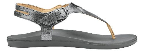 Womens OluKai Eheu Sandals Shoe - Pewter/Charcoal 10