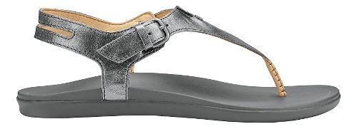 Womens Olukai Eheu Sandals Shoe - Pewter/Charcoal 5