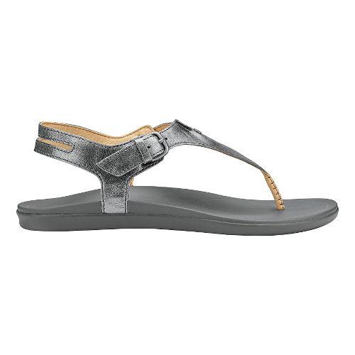 Womens Olukai Eheu Sandals Shoe - Pewter/Charcoal 6