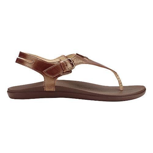 Womens Olukai Eheu Sandals Shoe - Bronze/Kona Coffee 7