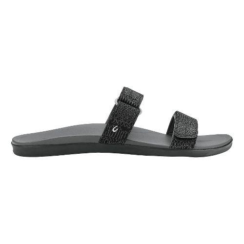 Womens Olukai Kipuka Casual Shoe - Black Honu/Dark Shad 7