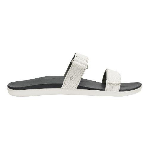 Womens Olukai Kipuka Casual Shoe - White/Black 5