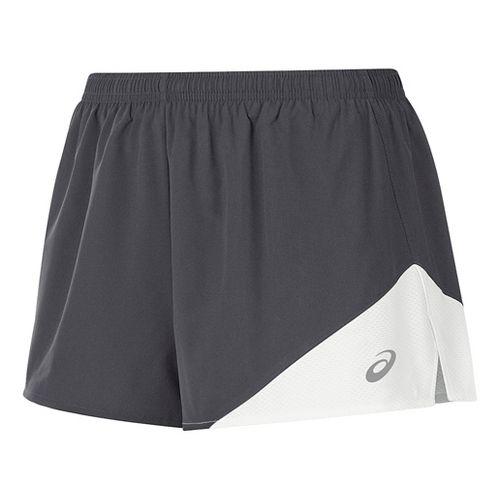Womens ASICS Gunlap 1/2 Split Lined Shorts - Steel Grey/White XL