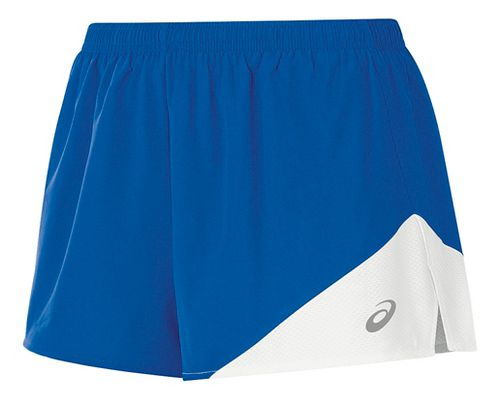 Womens ASICS Gunlap 1/2 Split Lined Shorts - Royal/White L